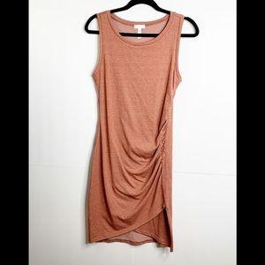Leith Sleeveless Ruched Bodycon Dress Size Medium